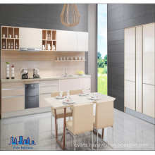 European Style Framelss Melamined Particle Board Kitchen Cabinet