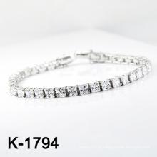 Bracelet de bijoux en argent sterling Silver Pave CZ (K-1794. JPG)
