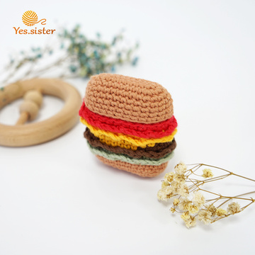 Custodia per auricolari Bluetooth in stile coreano Hamburger