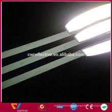 high light black matt finish reflective safety straps for cloth
