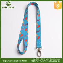 Lovecolour custom ticket holder lanyard with metal hook