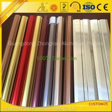Extrusões de alumínio da electroforese colorida para a decoração das mobílias