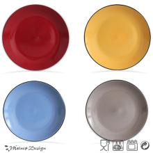 Plaque céramique en céramique en vrac blanc