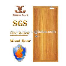 Puerta ignífuga de madera de la laca del retraso del fuego BS476 de alta calidad