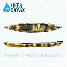Angler 4.3 Liker PRO Fishing Kayak sentar em cima com função assento, disponível para Adicionado Motor