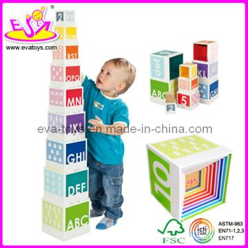 Wooden Educational Blocks Toy (W13D002)