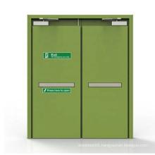 EN1634 1.5 mm galvanized Steel hollow Metal Door Fire rated Exit Door With Panic Bar