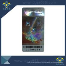 Münzverpackungskarte für ein Mitglied mit Originalitätssicherung