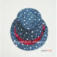 2013 Art und Weise modische Brown Fedora Hüte Großhandelsfabrik Soem u. ODM