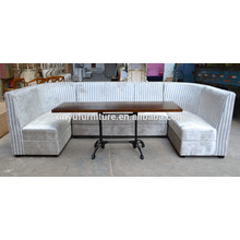 Restaurant chair with corner and coffee table set XYN561