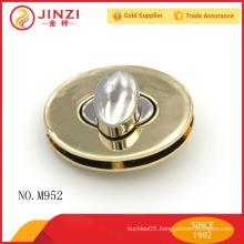 2016 high quality large oval shape metal turn lock