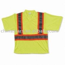 EN471 T-shirt réfléchissant avec un ruban réfléchissant contrastant