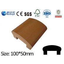 100X50 WPC Handrail with SGS CE Fsc ISO WPC Railing WPC Fecne Wood Plastic Composite Railing Handrail Lhma122