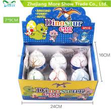 Nuevos huevos crecientes coloridos del huevo de Dinasour del animal doméstico que traman el huevo juega los 7 * 9cm