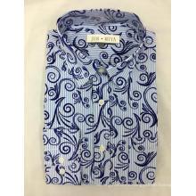 Men's Yarn Dyed And Printed Shirt