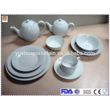 cheap high temperature white porcelain dinner set