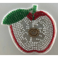 Weißer Filz Perlen Apple Patch Designs Applique