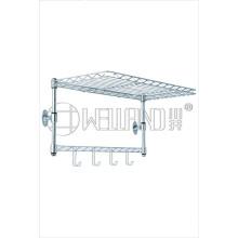 Chrome Metal Mini Mounted Wall Shelf (GPE 02WM)