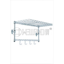 Metal cromado mini prateleira de parede montada (GPE 02WM)