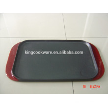 rectangular cast iron reversible double griddle hot sale