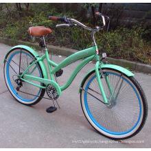 Popular High Grade Rear 7speed Beach Bicycles (FP-BCB-C037)