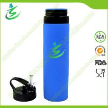 600ml Bouteille d'eau collante résistante au silicone, bouteille en silicone souple