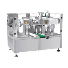 Máquina de embalagem rotativa para líquidos e pastas
