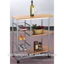 Multi-tier Metal Serving Carts with Wheels for Hotel