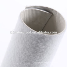 Material impermeable de pvc con tela