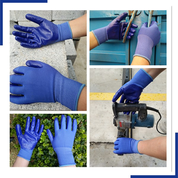 Anti Oil Resistant U3 Style Nitile Coated Work Gloves For Industrial