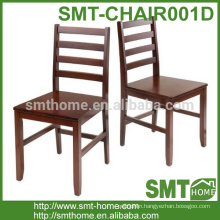 Modern simple high back wood dining chair for restaurant