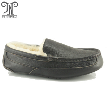 wholesale soft sole house sheepskin men moccasins slippers
