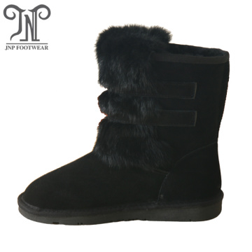 Women winter fur lining ankle warm snow boots