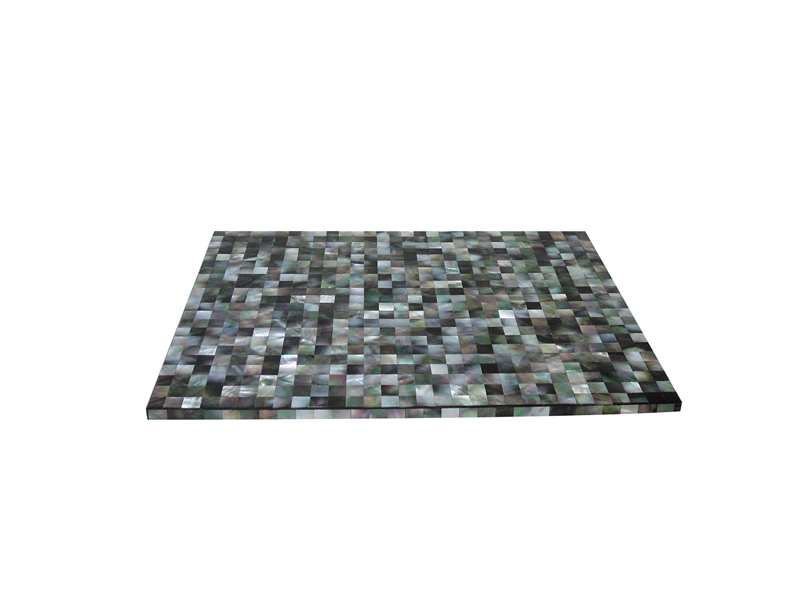 black mother of pearl placemat
