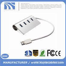 Brand New Super Speed 4-Port USB 3.0 Premium Aluminium Hub Für iMac MacBook PC Tablette