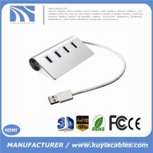 Совершенно новый сверхскоростной 4-портовый USB 3.0 Premium алюминиевый концентратор для планшета iMac MacBook для ПК