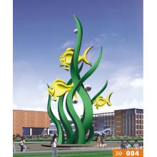 Современные Большие Известные Искусства Абстрактные Нержавеющая сталь Фонтан Скульптура для украшения сада
