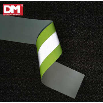 Lime Green Premium Reflective FR-Treated Cotton Vest Trim 5cm