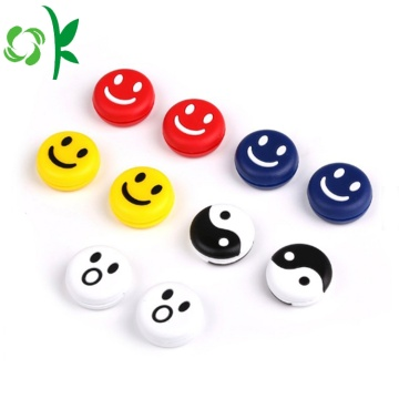 Custom Cute Smile Silicone Tennis Racket Dampeners Getaran