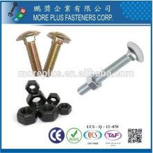 Taiwán tornillo y tuerca DIN555 Hex Nuts DIN603 Cabeza de hongo Pernos cuello cuadrado