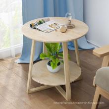 modern white wood end bedside table for living room