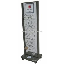 Floor Showroom Display Racks For Granite, Marble Tile Display Unit Metal Paving Wall Tile Display Rack