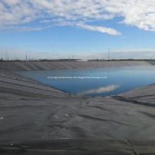 Rough Surface Pond Liner HDPE Geomembran mit schwarzer Rolle