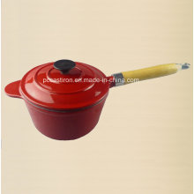 2qt esmalte de hierro fundido Cauce Pan Dia 18 cm