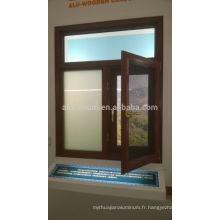 Fenêtres de revêtement en aluminium et bois