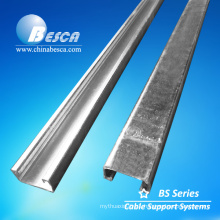 Pre-galvanized steel solid strut channel and accessories
