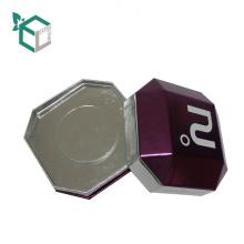 China Lieferanten-kundenspezifische Logo-purpurrote holographische Folie, die spezielle Form-Uhr-Verpackungsbehälter der Pappe stempelt