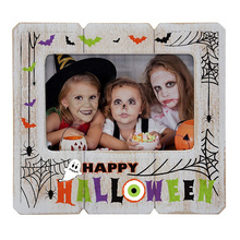 custom creative gift  8x10 distressed white halloween picture frame for halloween day home decoration