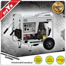 BISON CHINA TaiZhou 3 fase 5kw máquina de solda elétrica portátil de partida do motor diesel