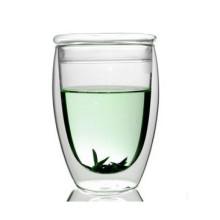 Taza de té de vidrio en forma de huevo 350ml con tapa (XLSC-001G 350ml)